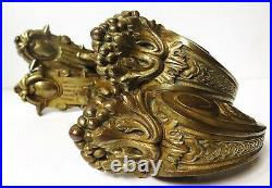 A Pair Of Large Period Classical Brass Curtain Tie Backs