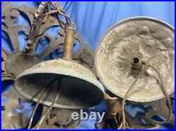 Antique Marked Pair Markle Chandelier Up-down Light Dinning Room&parlor Fixture