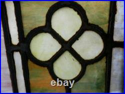 Antique Stained Glass Windows Matching Pair NO GLASS DAMAGE 36.5 X 28.5