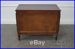 French Louis XVI Style Pair of Walnut Large 2 Drawer Chests Nightstands