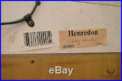 Henredon Silver Leaf Large Pair Arch Top Curio Display Cabinets