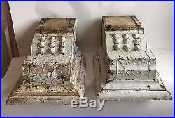 LARGE 1890's Antique Pair(2) Wood Corbels Brackets Victorian Gingerbread Shabby