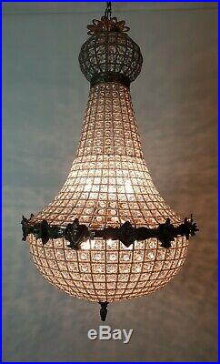 Large Empire Style Chandelier Rewired and Restored. FREE DELIVERY
