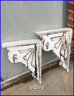 Large Pair Rustic Distressed Country Victorian Corbels