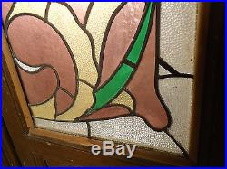 Large Pair of Vintage French Stained Glass Doors (1863)NS
