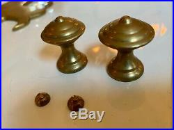 Large Vintage Brass and Glass Chapman Hurricane Sconce Pair 1972 30 tall