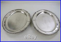 Large heavy PAIR of SILVER ROYAL FUSILIER MEAT PLATES, London 1840 3250 grams