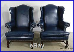 Lexington Bob Timberlake Chippendale Style Large Pair Wing Chairs