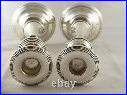 Lovely Large Pair Solid Sterling Silver Candlesticks 10 Inches High