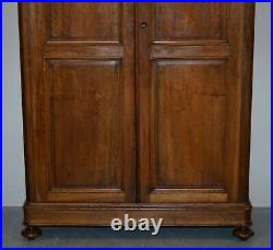 Lovely Pair Of Victorian Walnut Large Wardrobes That Can Be Fully Dismantled