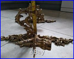 Magnificent Pair large French Rococo style 3 Arm Candelabra wall sconces c1920's