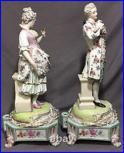 Meissen Quality LARGE Victorian Couple Dresden Style BEAUTIFUL