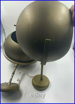 PAIR LARGE MCM Space Age Ceiling Light Industrial Eyeball Spotlight Directional