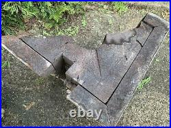 PAIR Large Antique Victorian Finial Corbel Bracket W Snakes & Doves
