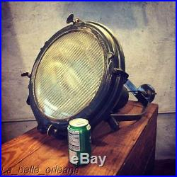 PAIR OF LARGE WWII SEARCHLAIGHTS / PENDANT LIGHT. INDUSTRIAL. MUST SEE. L@@k