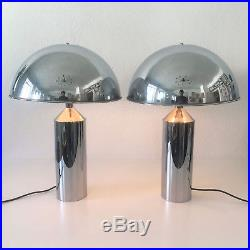 PAIR of LARGE & RARE Mid Century Modern TABLE LAMPS by WKR, Germany, 1970s