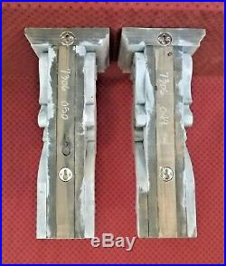 PAIR of Large Victorian Wood Corbels Weathered White (#7306)(049 050)