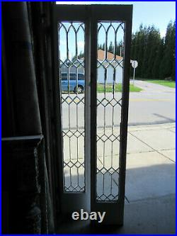Pair Antique Beveled Glass Sidelites Or Doors 14 X 83 Architectural Salvage