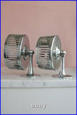Pair Art Deco Wall Mounted Dishes LARGE size Antique Bathroom Accessories