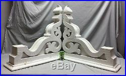 Pair Extra Large Antique White Roof Corbels Cornice Shabby Vtg Chic Old 43-19M