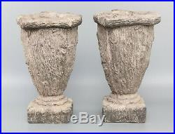 Pair Mid Century Large French Faux Bois Jardinieres Planters