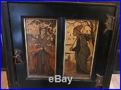 Pair Of Aesthetic Ebonized, Herter Wall Cabinets. Large And Awesome, Look