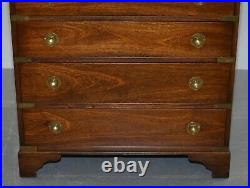Pair Of Harrods Kennedy Military Campaign Chest Of Drawers Part Of Large Suite