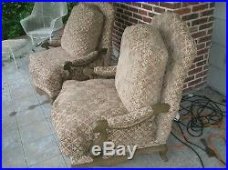 Pair Of Large Henredon Hollywood Regency Chairs
