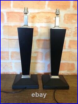 Pair Of Large MID Century Table Lamps Pair Of Table Lamps