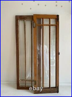 Pair of 1920's Storybook Style Leaded Glass Window