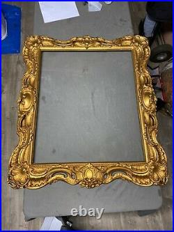 Pair of Antique Large Wood Gesso Painting Frames