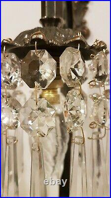 Pair of Wall Lights Rococo Baroque French Wall Down Lights with Crystal Icicles