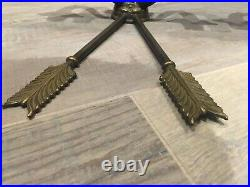 Rare magnificent antique sconces in the shape of an arrow black french bronze